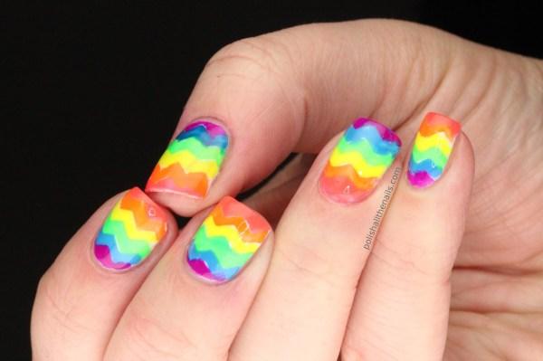 Neon Rainbow Nail Designs