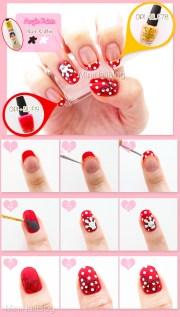 minnie mouse nail art nailbees