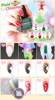 plaid nails nailbees