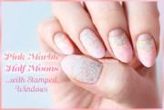 pink marble moon nails nailbees