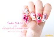 barbie nail art with decals nailbees