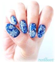layered snowflake nail art nailbees
