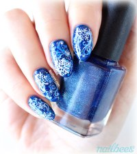 Layered Snowflake Nail Art | nailbees