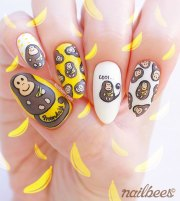 monkey nail art nailbees