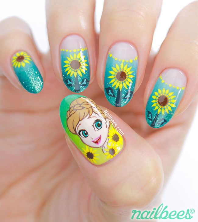 Frozen Nail Art Designs Ideas