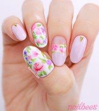 Realistic Rose Nail Art | nailbees