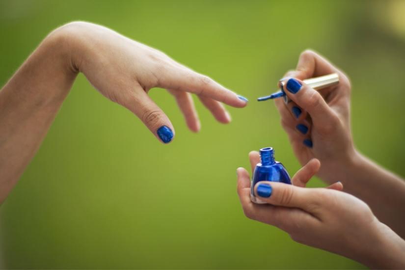 painted nail