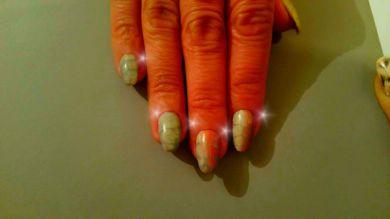 Nail art sfumature di colori invernali aurora e griggio, effetto serpente o tartaruga