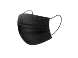 Mondmaskers Zwart (600101) 50st
