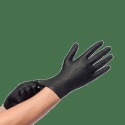 Nitril Zwart Handschoenen 100st s (50136110)