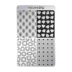 YOURS Stamping Plates Dots & Diamonds 8719324059435