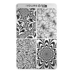 YOURS Stamping Plates Blooming Four 8719324059541