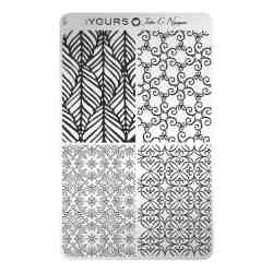 YOURS Stamping Plates Floral Stitch 8719324059800