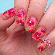 summer floral nail art naildawdle