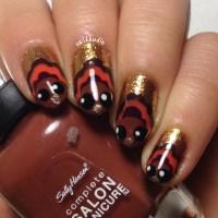 Bug-eyed Turkey Nails   naildawdle