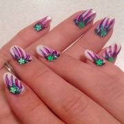 creative and colorful nail design