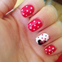 10 Best Polka Dot & Minnie Mouse Nail Designs for 2018 ...