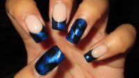 10 Most Delightful Black and Blue Nail Designs ...