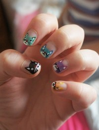 20 Hello Kitty & Claw Nail Designs - Try The Trend