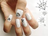 20 Startling Nail Designs With Diamonds  NailDesignCode