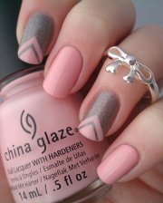 glamorous ombre & grey nail