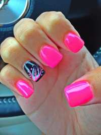 12 Hot Pink And Black Nail Designs that Are Truly Amazing