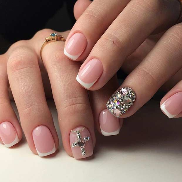 Cly French Wedding Nail Designs 9