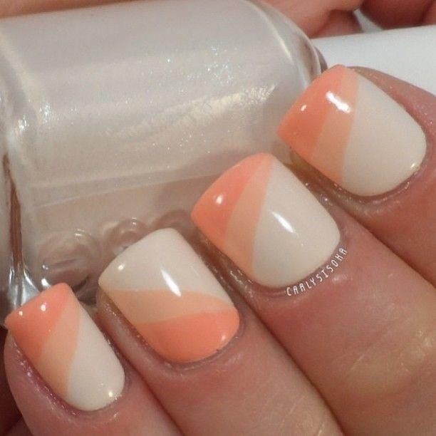 Peach Nail Design