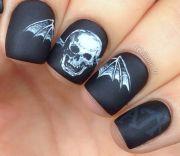hottest skull nail design