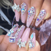 aristocratic bling nail design