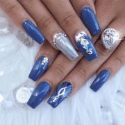aristocratic bling nail design