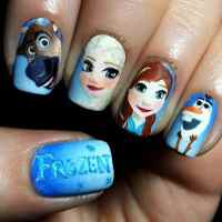 15 Fictional Frozen Nail Designs Inspired from The Disney ...