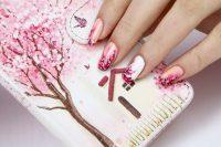 10 Charming Cherry Blossom Nail Art  NailDesignCode