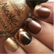 blissful brown nail design