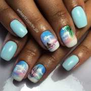 breathtaking vacation nail design