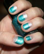 dramatic two tone nails