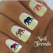 flair elephant nail design