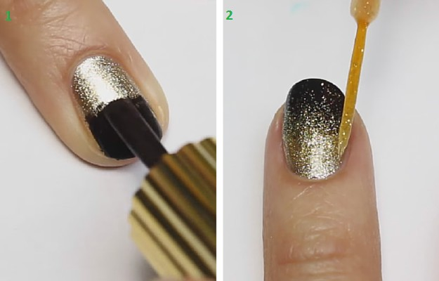 Step 3 Glitter Striper How To Do Ombre Nails 4 Fun Easy