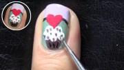 cute 3d cupcake nail art ladies