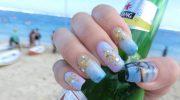 beach inspired nail art design