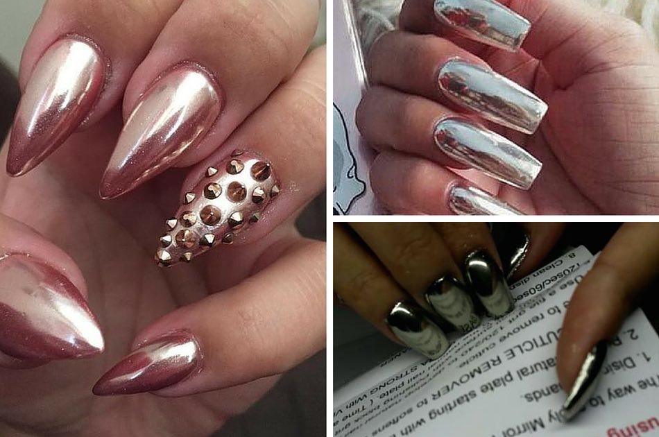 Metallic Nail Art Design