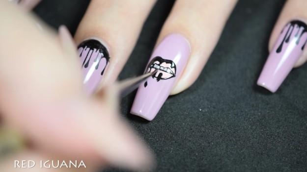 Diy Kylie Jenner Lip Kit Nail Art Design Designs Konad Sting