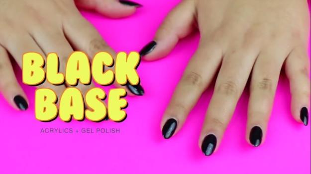 Black Base Polish Gel Nails Tutorial 5 Easy Steps To Get Mirror Chrome