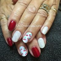 18 Red And White Nail Art Designs To Try On Valentine's Day