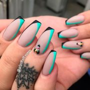 brilliant long nail design