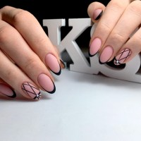 Fantastic Black French Manicure to Try | NailDesignsJournal