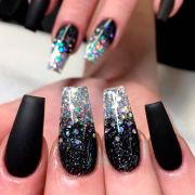 fantastic black acrylic nails