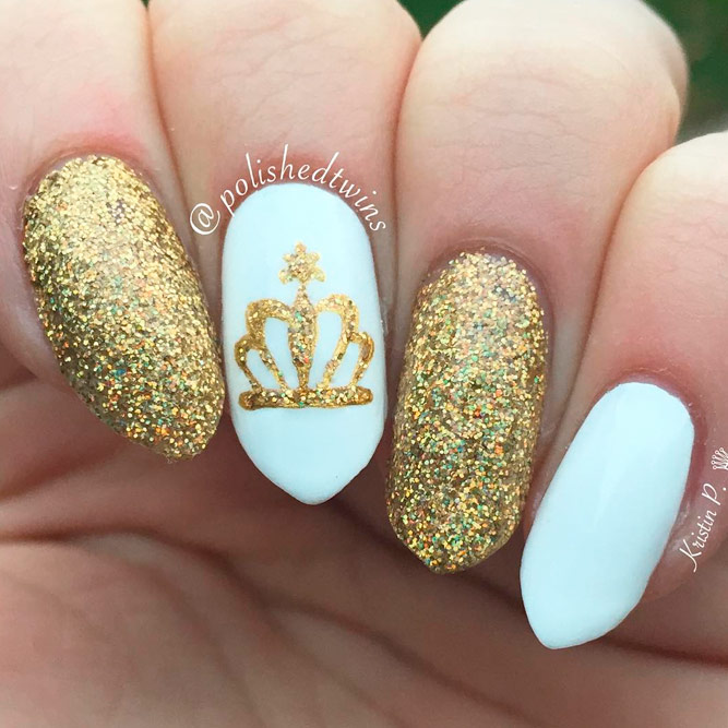 Perfect Gold Nail Art Designs Picture 1