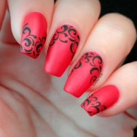 Sport Beautiful Red Acrylic Nails | NailDesignsJournal.com