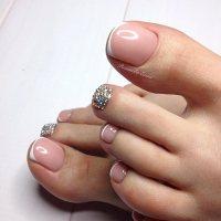 French Pedicure Toe Nail Art - NailArts Ideas